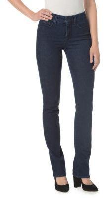 NYDJ Marilyn Five-Pocket Straight Denim Jeans $114 thestylecure.com