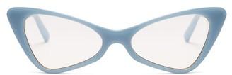 Le Specs On The Hunt Cat Eye Acetate Sunglasses - Womens - Light Blue
