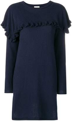See by Chloe ruffle trim sweater dress