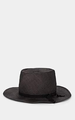 Yohji Yamamoto Men's Straw Hat - Charcoal