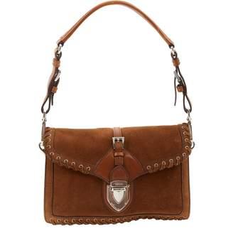 Prada Brown Suede Handbag