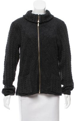 Barbour Wool Cable Knit Jacket $145 thestylecure.com