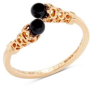 127159f24 Nouvel Heritage 18K Rose Gold Astral Onyx Ring