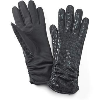 Apt. 9 Leopard Ruched Tech Gloves