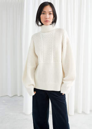 And other stories Oversized Cable Knit Turtleneck