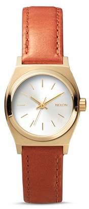 Nixon Time Teller Leather Strap Watch, 26mm