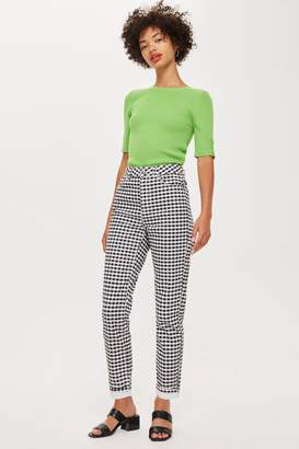 Topshop Gingham Mom Jeans