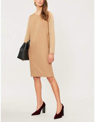Max Mara Astoria camel and wool tunic dress