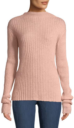 Rag & Bone Donna Ribbed Mohair Turtleneck Sweater