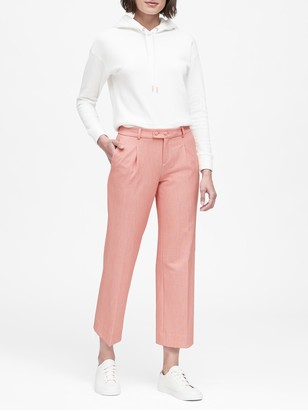 Banana Republic JAPAN EXCLUSIVE Logan Trouser-Fit Pleated Cropped Pant