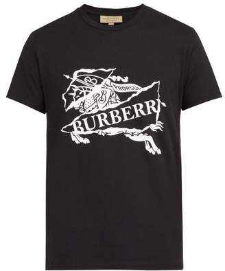 Burberry Logo Print T Shirt - Mens - Black