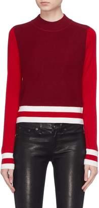 Rag & Bone 'Dean' colourblock mock neck Merino wool sweater