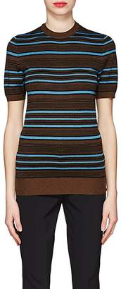 Prada Women's Striped Wool-Blend Short-Sleeve Sweater