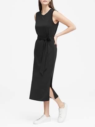 Banana Republic Soft Ponte Midi Tank Dress with Side Slits