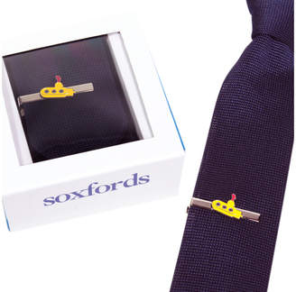 Soxfords Silk Knit Tie & Hand-Finished Tie Bar Set