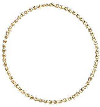 """Bloomingdale's 14K Yellow Gold Stampato Link Necklace, 18"""" - 100% Exclusive"""