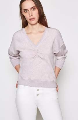 Joie Warda Cotton Ruched Sweatshirt