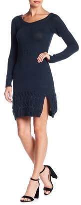 Somedays Lovin Some Days Lovin' Falling Free Knit Slit Mini Dress