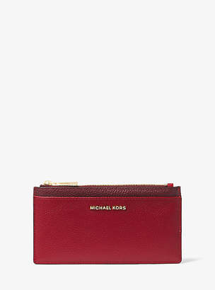 Michael Kors Large Tri-Color Pebbled Leather Card Case
