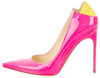 Brian Atwood Patent Leather Pointed-Toe Pumps $130 thestylecure.com