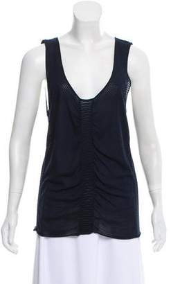 Armani Collezioni Sleeveless Ruched Top