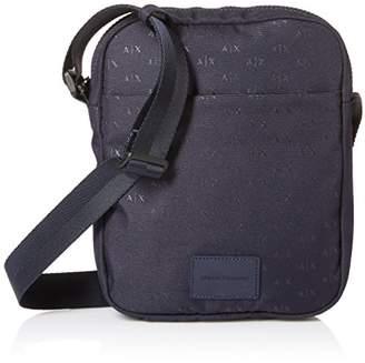 eb3145c7a0f5 Armani Exchange Men s Logo Silver Crossbody Bag Messenger