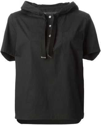 Marc By Marc Jacobs hooded boxy T-shirt $340.50 thestylecure.com
