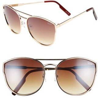 Women's Quay Australia Cherry Bomb 60Mm Sunglasses - Gold/ Silver Mirror $55 thestylecure.com