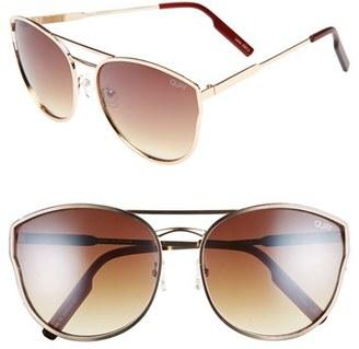 Women's Quay Australia Cherry Bomb Sunglasses - Gold/ Silver Mirror $55 thestylecure.com