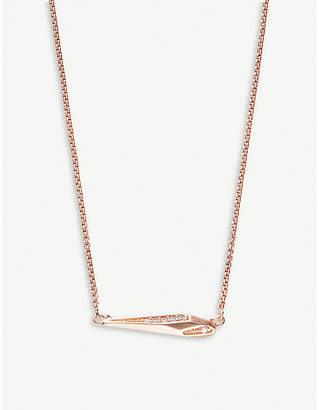 Kendra Scott Tabitha 14ct rose gold-plated necklace
