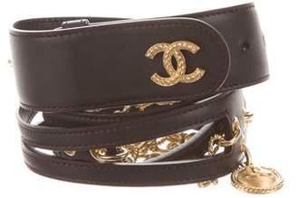 Chanel 2018 Medallion Chain-Link Belt
