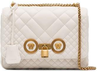 Versace white quilted chain shoulder bag