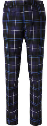 Versace Slim-Fit Checked Wool Trousers