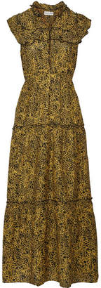 Apiece Apart Wild Reed Printed Cotton And Silk-blend Maxi Dress - Yellow