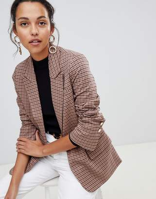 Oasis heritage check blazer in check