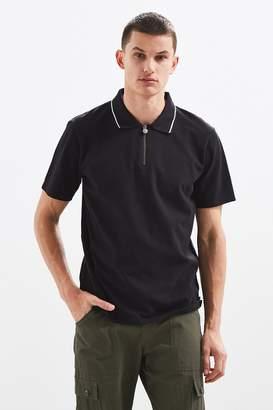 Stussy Lion Zip Polo Shirt