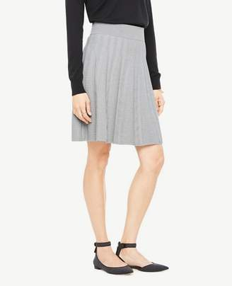 Ann Taylor Petite Stitched Flare Sweater Skirt