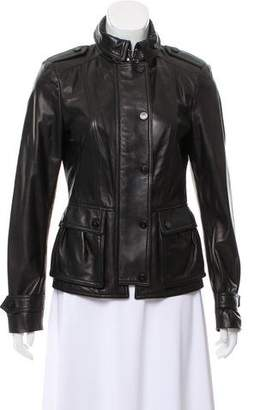 Burberry Structured Leather Jacket