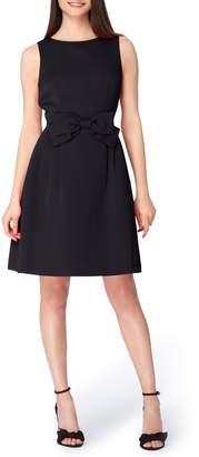 Tahari Sleeveless Bow Waist Fit & Flare Dress