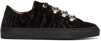 Carven Black Velvet Germain Sneakers