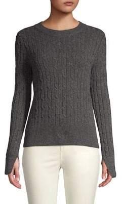 Vineyard Vines Coral Lane Plaited Cashmere Tartan Cuff Sweater