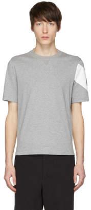 Moncler Gamme Bleu Grey Chevron Logo Sleeve T-Shirt