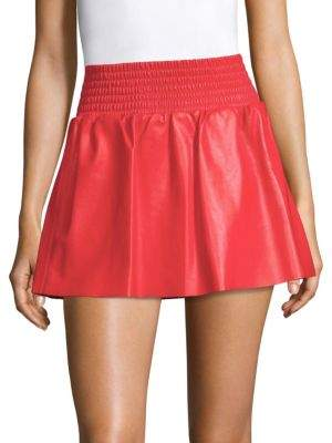 Ramy Brook Kenzie Leather Miniskirt
