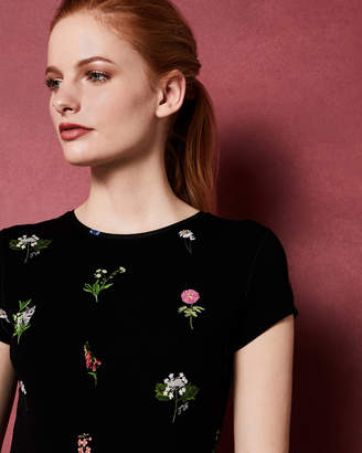 Ted Baker ROOBEY Florence Black fitted T-shirt