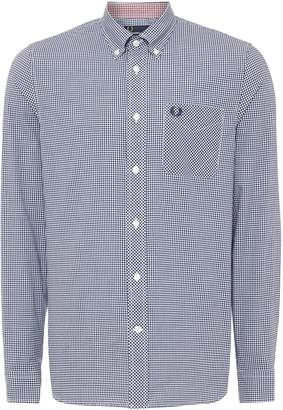 Fred Perry Men's Gingham Classic Fit Long Sleeve Shirt