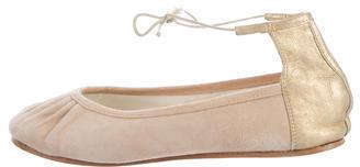 RepettoRepetto Metallic Ankle Strap Flats
