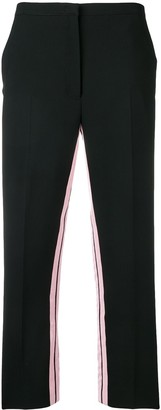 No.21 inner stripe cropped trousers