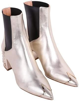 Elisabetta Franchi Celyn B. Leather Ankle Boots