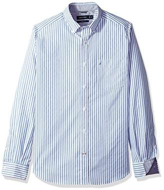 Nautica Men's Long Sleeve Vertical Stripe Button Down Shirt