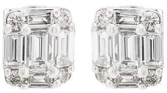 Sara Weinstock Women's Illusion White Diamond Stud Earrings - Silver